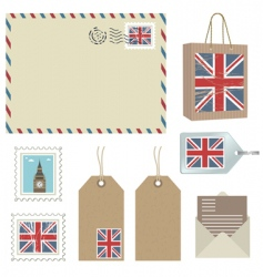 british postage vector image vector image