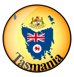 Button tasmania vector