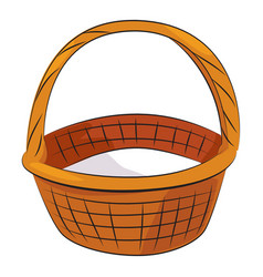 cartoon image of basket icon basket symbol vector image