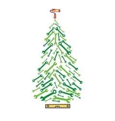 Christmas tree tools vector image vector image