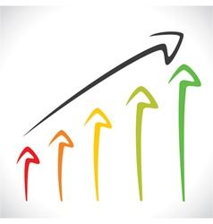 color arrow market graph stock vector image