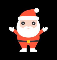 cute santa claus for christmas vector image vector image