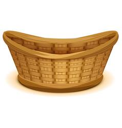 empty wicker basket nest vector image vector image