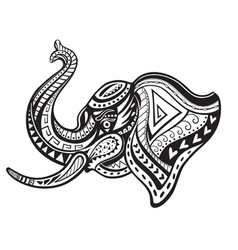 Ethnic ornamented elephant vector image vector image