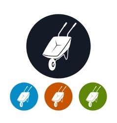 Four types of round icons wheelbarrow vector