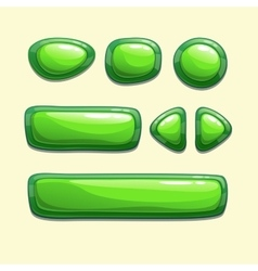 Green buttons vector