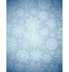 Grey christmas background with snowflakes and star vector