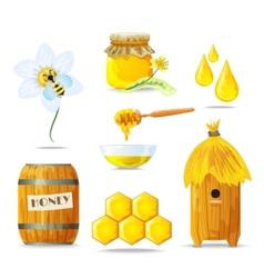 Honey icons set vector