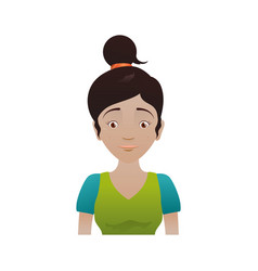 Kid child girl avatar vector