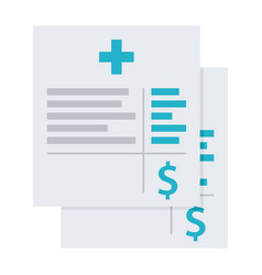 medical invoice or hospital bills icon vector image vector image