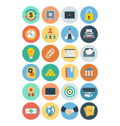 Office flat icons 5 vector