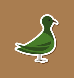 Paper sticker on stylish background dove vector