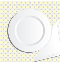 Plate and napkin vector