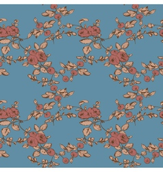 rose floral seamless pattern vector image vector image