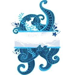 Sea ornament vector
