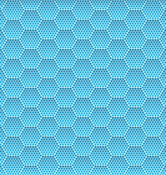 Seamless honeycomb hexagon background pattern vector