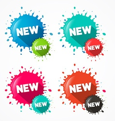 Splashes - Blots - Stains with New Title Isolated vector image vector image