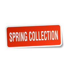Spring collection square sticker on white vector