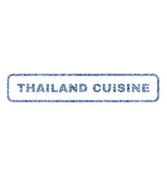 thailand cuisine textile stamp vector image vector image