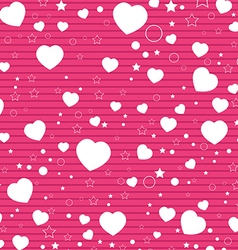 Valentine Day and White Heart on Pink background vector image