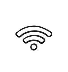 wifi sign sketch icon vector image vector image