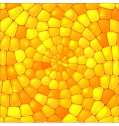 Yellow abstract stained glass mosaic background vector image vector image
