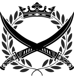 military glory stencil vector image