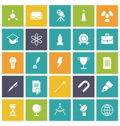 Icons plain tablet education vector