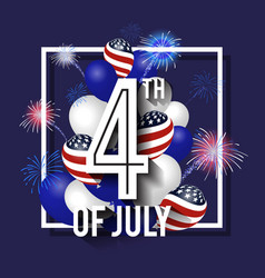 4th of july celebration background design vector