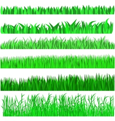 Grass green background set vector