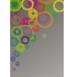 Abstract gray background with colored circles vector image