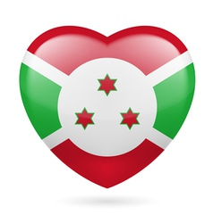 Heart icon of burundi vector