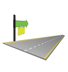 Road with signboard color vector