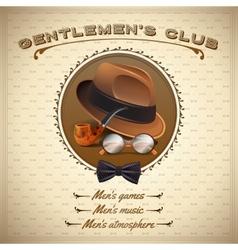 Vintage gentlemen poster vector