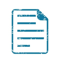 Grunge document icon vector