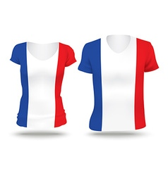 Flag shirt design of france vector
