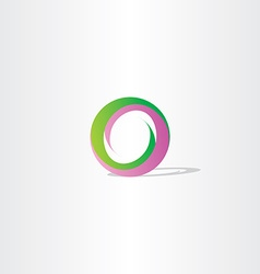 Purple green letter o logo design vector