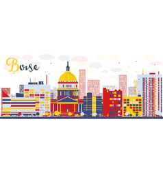 Abstract boise skyline vector