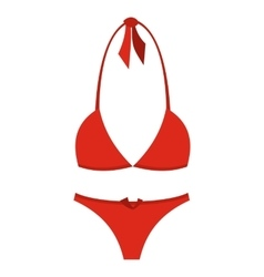 Swimsuit flat icon vector