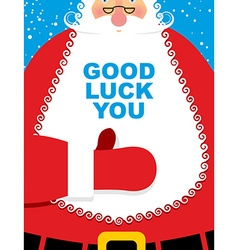 Santa claus good luck bearded christmas character vector