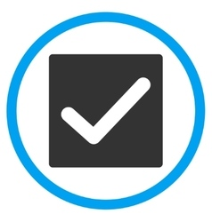 Check box icon vector