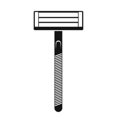 Razor black simple icon vector