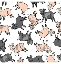 color pig pattern vector image