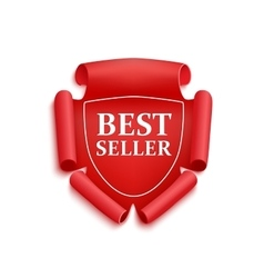 Red best seller sticker vector
