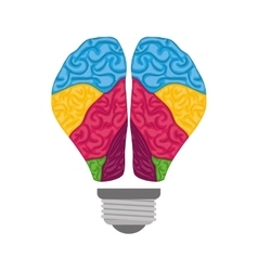 Brain icon human organ design graphic vector