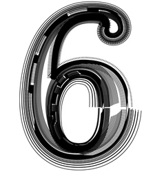 Abstract font number 6 vector