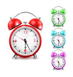 alarm clock icon set vector image
