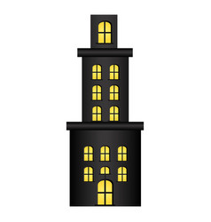 Apartment residence with several floors vector
