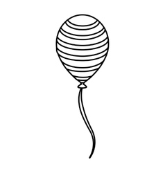 Balloon air birthday isolated icon vector