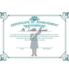 Certificate of achievement graduation student vector